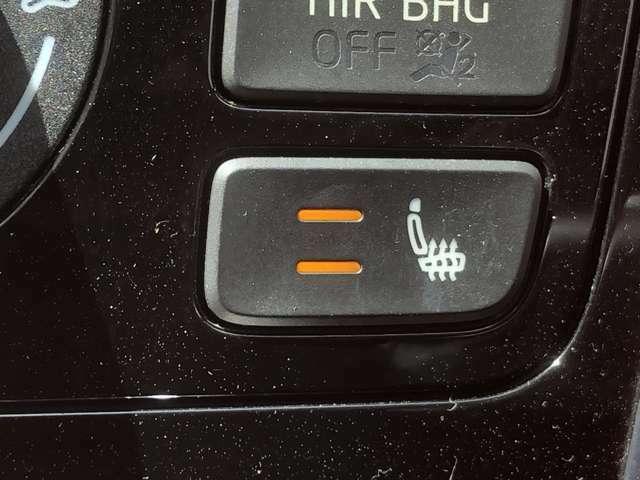 冬の必需品!シートヒーターで暖かくドライブを楽しめます。