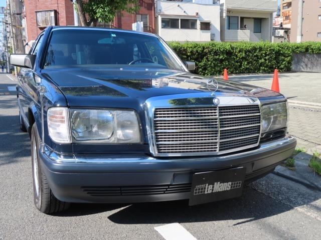 当車両は弊社のお客様が大切にお乗り頂いておりましたW126後期型となります。後期型は252馬力を誇ります。