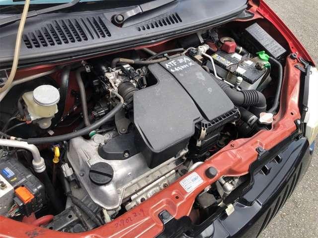 タイミングチェーン式のエンジンです。
