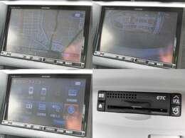 アルパインHDDナビ フルセグ ミュージックサーバー DVD再生 バックカメラ ETC装備