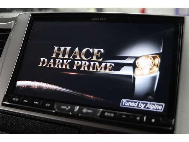 アルパイン製ビックX8インチナビTV装備です。DVDビデオの再生やSDカードご用意頂ければCDの録音機能もあります。型番はX8Zです。