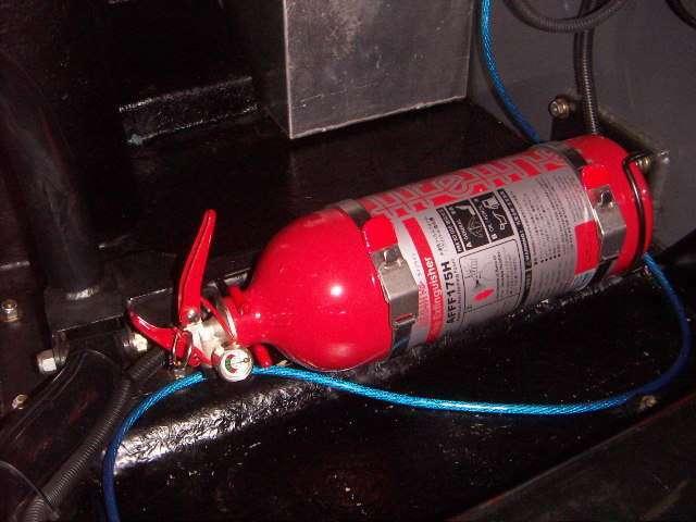 消火器。先日、新品と入れ替えました。