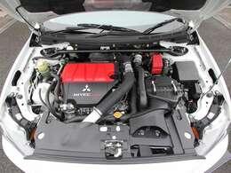 クリーニング済み綺麗なエンジンルーム&4B11型MIVECインタークーラーターボエンジン!!ア!!