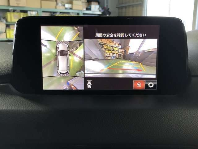 360°モニターと前後パーキングセンサーが付いています。大きい車ですが、どんな道も運転が安心です♪
