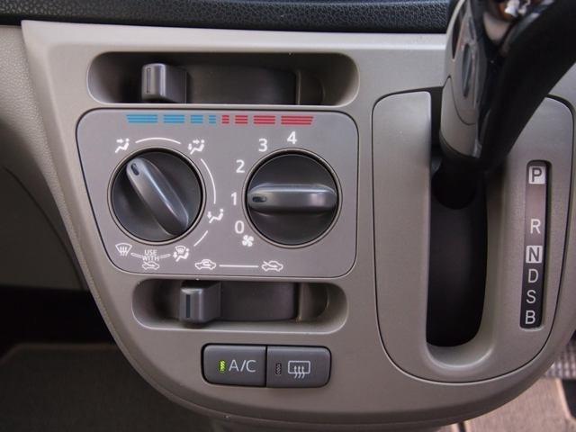 マニュアルエアコンが装備♪♪   これで車内も快適…♪