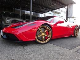 フェラーリ 458スペチアーレ F1 DCT レーシングストライプ レザーインテリア