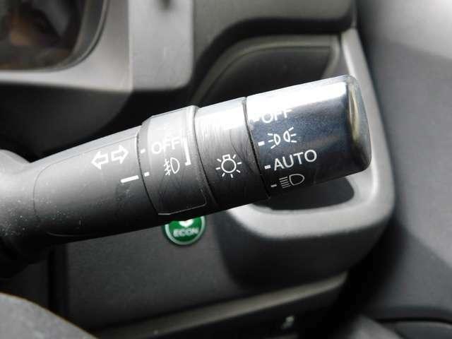 ヘッドライトはオートライト機能付きです!ライティングの設定でお好みの感度で点灯可能です!もちろんマニュアルでも切替可能です!