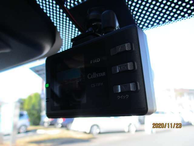 前方ドライブレコーダー搭載!安心と安全の運転を提供♪
