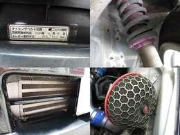 タイベル交換済H24年4月4日94722キロ時 車高調 前置きインタークーラー エアクリ装備