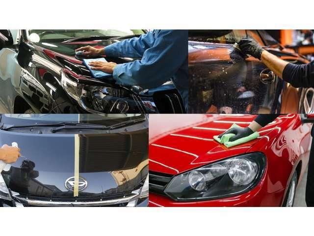 Bプラン画像:お車を1度下地処理を行いお車全体を軽研磨しガラスコーティングを行います!乾燥後、硬化・ガラス結晶化、強力撥水長期間持続ガラス被膜を形成し、保護します。