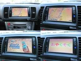 純正DVDナビが装備されております♪画面もクリアで運転中も確認しやすいです♪フルセグTVとDVDの視聴もお楽しみ頂けます♪遠出をする際はナビは必須装備ですよね♪