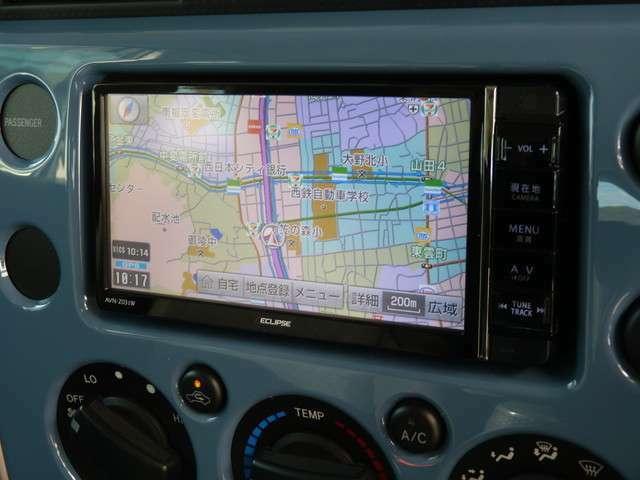 イクリプス製フルセグSDナビ!DVDビデオ再生可能で走行中のテレビ視聴も可能です!Bluetoothも対応しています!ガイドライン付きカラーバックカメラ!駐車もしやすくなると思います!