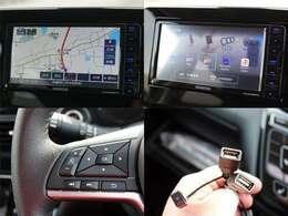 KENWOOD製ハイレゾ対応地上デジタルTVチューナー/Bluetooth内蔵DVD/USB/SD AVナビゲーション『MDV-D706BTW』付き。ステアリングリモコンでの操作も可能なスグレモノ!