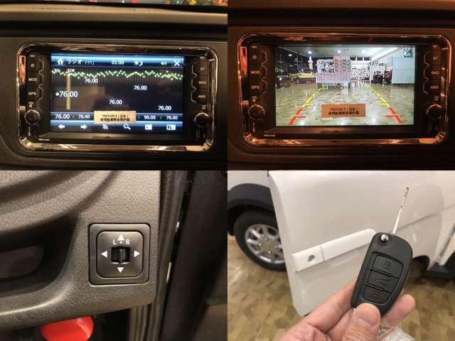 ラジオ♪バックカメラ付きで駐車も安心らくらく♪もちろんドアミラーも調整可能です♪