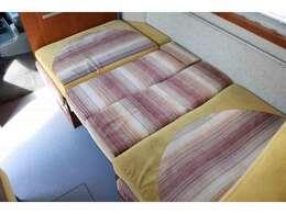 ダイネットベッドは180cm×92cm 大人1名子供1名就寝できます☆