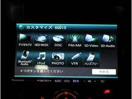 フルセグ、CD,DVD再生、ミュージックサーバー、Bluetooth接続機能付きです!