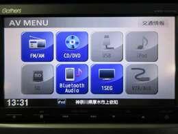 音楽ソースはCD/DVD/SD/TV/Bluetoothに対応しておりますのでスマホ連携もラクラク