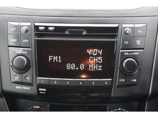 スズキ純正オーディオCD AM/FM USB に対応しています。