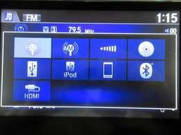 音楽ソースはCD/DVD/USB/HDMIに対応しておりますのでスマホやタブレットをの動機が可能