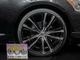 ☆当社にて取り付けた新品21インチアルミ新品タイヤです!アルミのデザイン変更やインチ変更などもお気軽にご相談下さい。