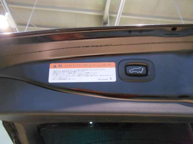 テールゲート。運転席からのスイッチ操作やリモコン操作で自動開閉も可能。開閉時に障害物に当たると自動的に反転するセーフティ機能付き!
