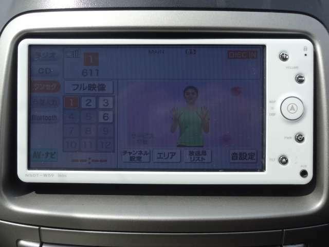 純正SDナビTV+バックモニター付きです。