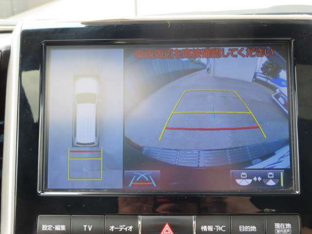 車庫入れに便利です!全方位式カメラ(パノラミックビューカメラ)が装着されております♪