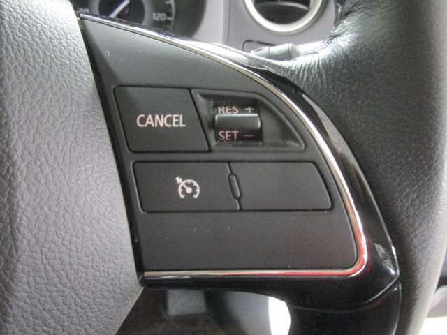 クルーズコントロールを装備!!高速道路など、長距離のドライブで付いているとうれしい装備です。