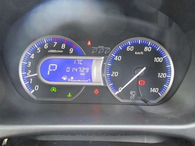 運転席のスピードメーターになります。