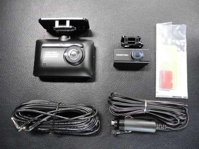 Aプラン画像:前後2カメラドライブレコーダー取付プランです☆オプション装着で駐車中録画もできる人気商品です♪※取り付け工賃も含まれております