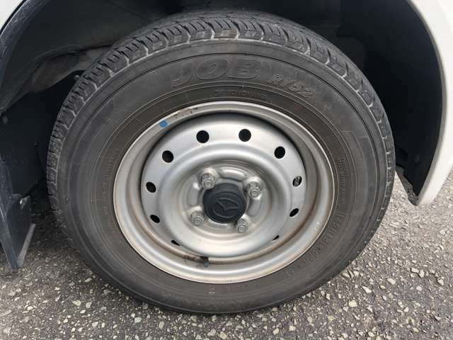 タイヤまだいけます!