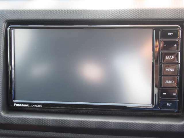 純正オプションのパナソニックド製7型ワイドフルセグナビを取り付けます!・フルセグTV・DVD再生可・BlueToothオーディオ対応!
