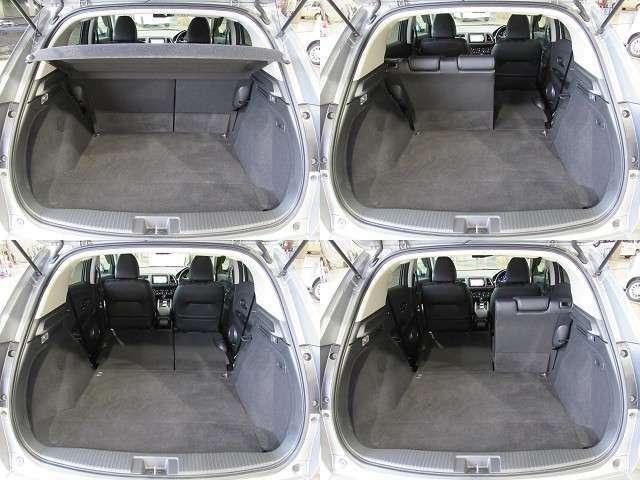 ラゲッジスペースです!リアシートを前に倒せば荷室を更に広く使えます!