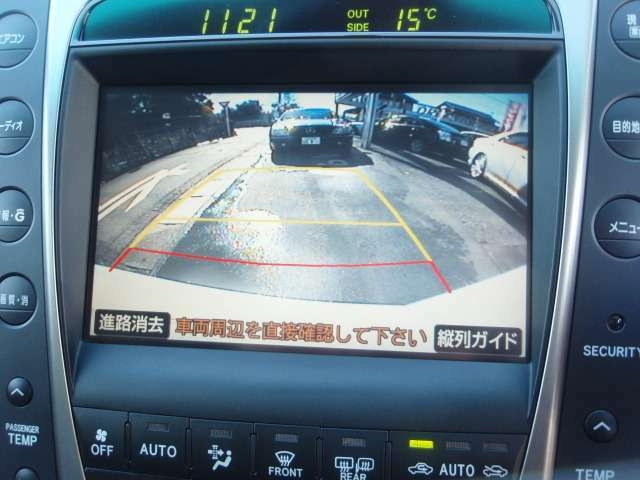 バックモニター!ガイドラインが表示されるので駐車もラクラクです♪