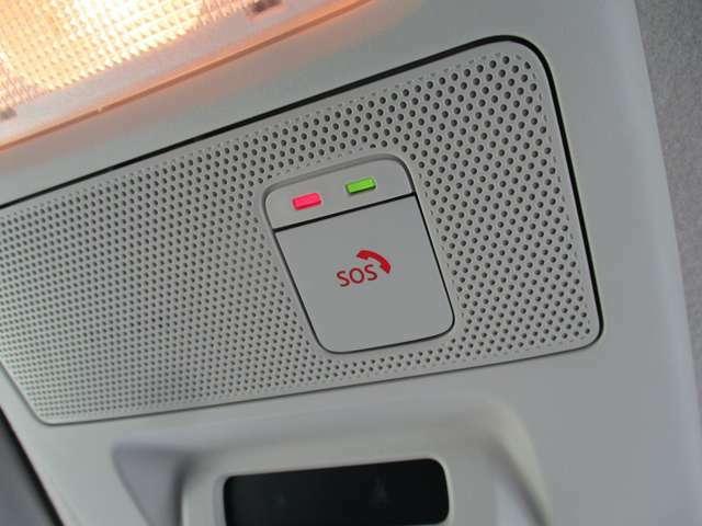 緊急時に手動はもちろん、エアバッグと連動で自動的に専門のオペレーターに繋がるSOSコールシステムは 位置情報や所有者の情報も自動的に連絡されます。