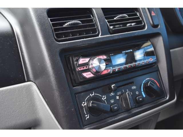 新品CDプレーヤー装着しておりますよ!ドライブ時の音楽もお任せ下さいね!オシャレな愛車で楽しいカーライフをお過ごし頂けますよ!自慢の愛車にして下さいね!ぜひお気軽にお問合せ下さい!
