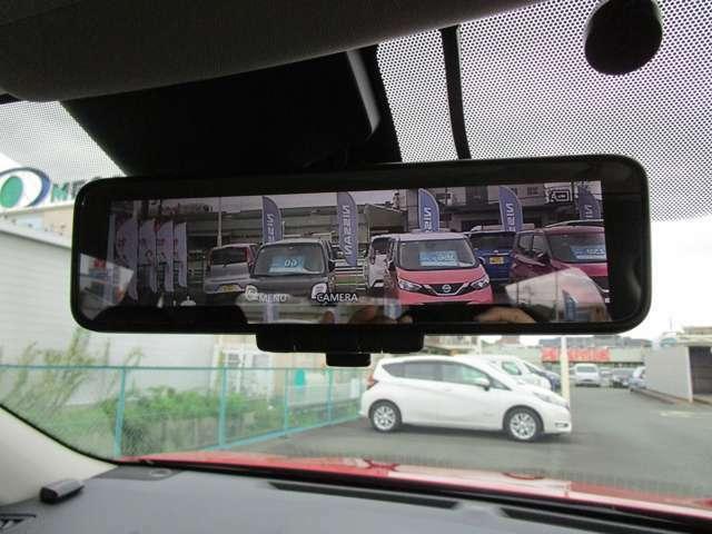 インテリジェントスマートルームミラー カメラで捕らえた映像が映りますので車内の荷物や人も後ろの視界を遮りせん。通常のルームミラーとしても使えます。