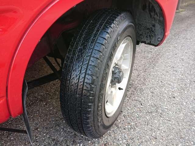 タイヤの残り溝もしばらくは大丈夫そうです◎