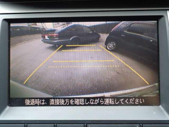 駐車時の後方確認も安心のバックカメラ付きです