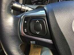 オーディオコントロールスイッチ。手元のスイッチでよそ見をすることなくオーディオの操作ができます。