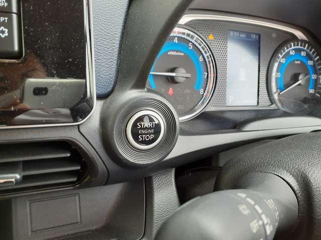 簡単にエンジンを始動できるプッシュスタートボタンがついています♪