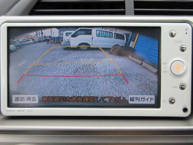 車庫入れ安心のバックカメラ☆