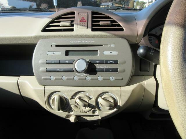 CDデッキ付きです。ドライブに音楽は欠かせませんね♪いい音かけて、快適空間を演出して下さい。ナビやETCなどを付けたい!という方もお気軽にご相談下さい。納車時に取付けてからの納車も承ります。