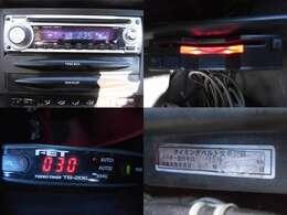 社外オーディオ ETC ターボタイマー タイベル交換済み