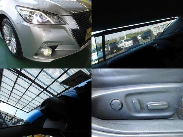 HIDヘッドライトとLEDフォグランプです。衝突被害軽減ブレーキ付です。電動リアサンシェード付です。