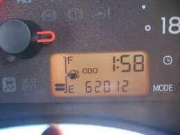 走行距離はおよそ62.000km
