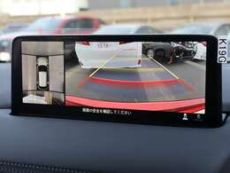 【 360°ビューモニター 】360°ビューモニターを搭載!上空から見下ろしたような映像を映し出し周囲の状況を確認しながら走行・駐車が可能となっております!