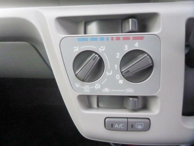ダイヤル式のエアコンです。エアコンの効きも問題ないですよ!!