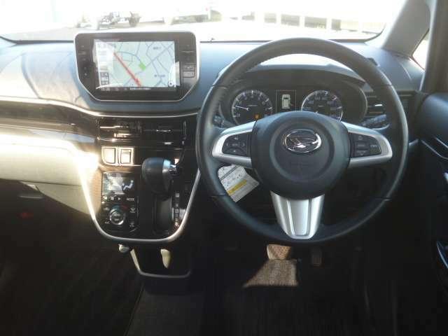 ドライバー目線の画像です。視界も確保されているので見やすいですよ。