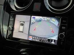 純正ナビ付き!360度見えて安心安全に車庫入れしていただけるアラウンドビューモニター装備!